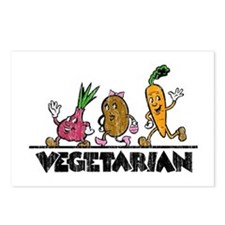 Retro Vegetarian Postcards (Package of 8)