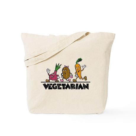 Retro Vegetarian Tote Bag