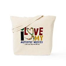 I Love My Autistic Nieces 2 Tote Bag