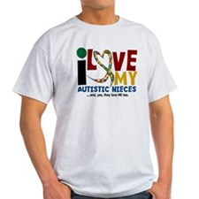 I Love My Autistic Nieces 2 T-Shirt