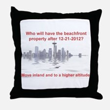 Cute 2012 disaster Throw Pillow