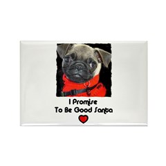 PROMISE TO BE GOOD SANTA Rectangle Magnet (100 pac