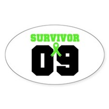 Lymphoma Survivor 9 Years Oval Decal