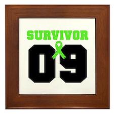 Lymphoma Survivor 9 Years Framed Tile