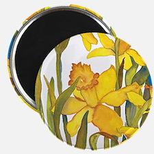 Daffodil Round Magnet