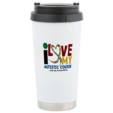 I Love My Autistic Cousin 2 Travel Mug