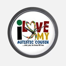 I Love My Autistic Cousin 2 Wall Clock