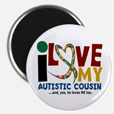 I Love My Autistic Cousin 2 Magnet