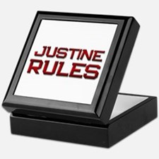 justine rules Keepsake Box