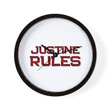 justine rules Wall Clock