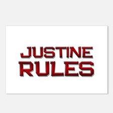 justine rules Postcards (Package of 8)
