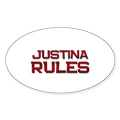 justina rules Oval Decal