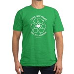 Love Recycles Men's Fitted T-Shirt (dark)