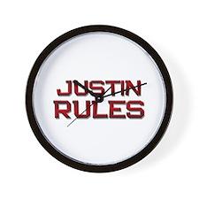 justin rules Wall Clock