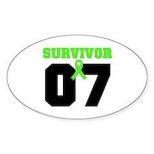 Lymphoma Survivor 7 Years Oval Decal