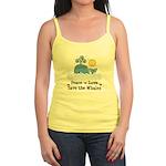 Peace Love Save The Whales Jr. Spaghetti Tank