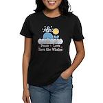 Peace Love Save The Whales Women's Dark T-Shirt