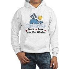 Peace Love Save The Whales Hoodie