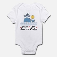 Peace Love Save The Whales Infant Bodysuit