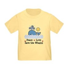 Peace Love Save The Whales T