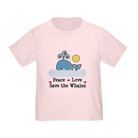 Peace Love Save The Whales Toddler T-Shirt