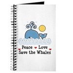 Peace Love Save The Whales Journal