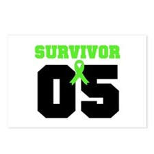 Lymphoma Survivor 5 Years Postcards (Package of 8)