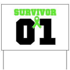 Lymphoma Survivor 1 Years Yard Sign