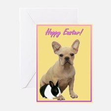Happy Easter French Bulldog Greeting Cards (Pk of