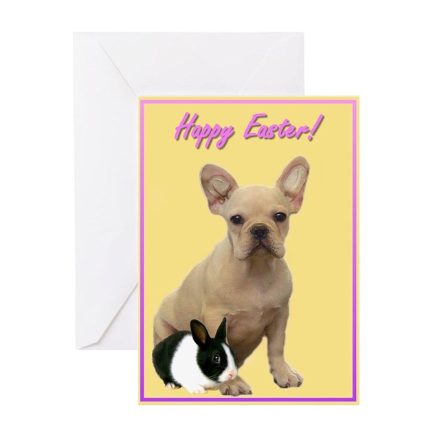 French Baby Gifts Australia : Happy easter french bulldog greeting card by ritmoboxers