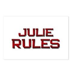julie rules Postcards (Package of 8)