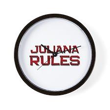 juliana rules Wall Clock