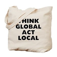 Think Global Tote Bag