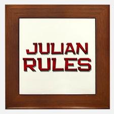 julian rules Framed Tile