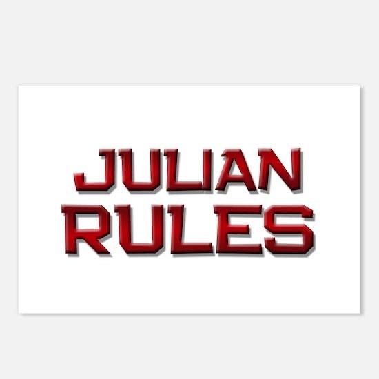 julian rules Postcards (Package of 8)