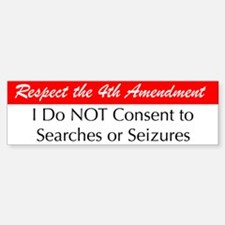 I Do Not Consent Bumper Bumper Bumper Sticker