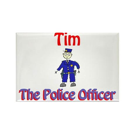 Tim - Police Officer Rectangle Magnet