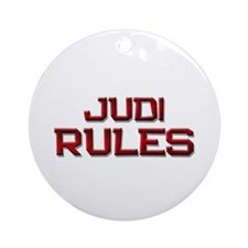 judi rules Ornament (Round)