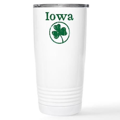 Iowa shamrock Stainless Steel Travel Mug