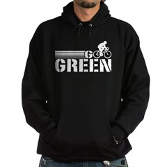 Go Green Cycling (male) Hoodie