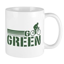 Go Green Cycling (male) Mug