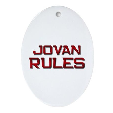 jovan rules Oval Ornament