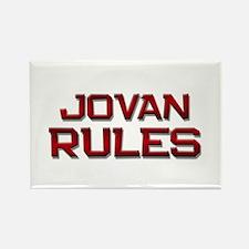 jovan rules Rectangle Magnet