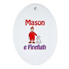 Mason - Firefighter Oval Ornament