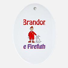 Brandon - Firefighter Oval Ornament