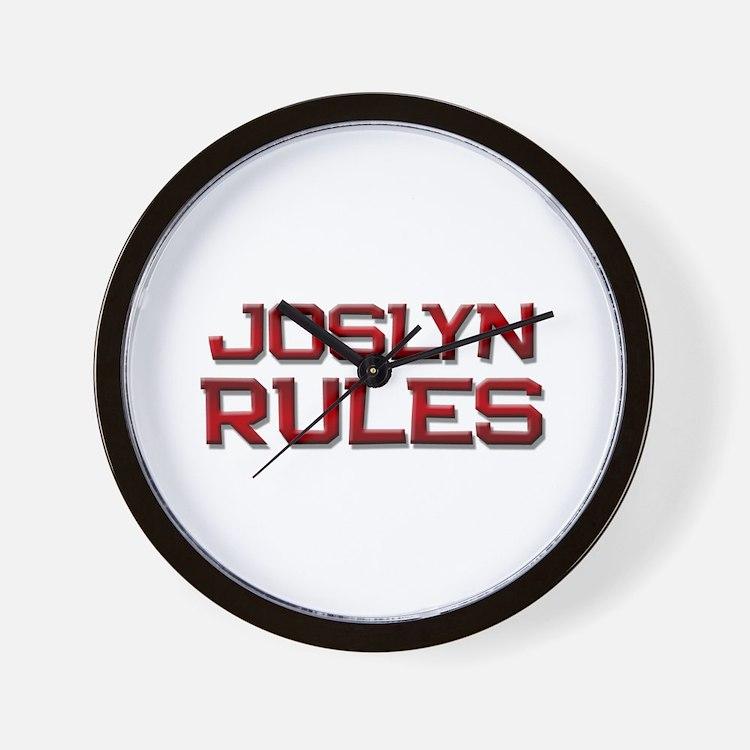 joslyn rules Wall Clock