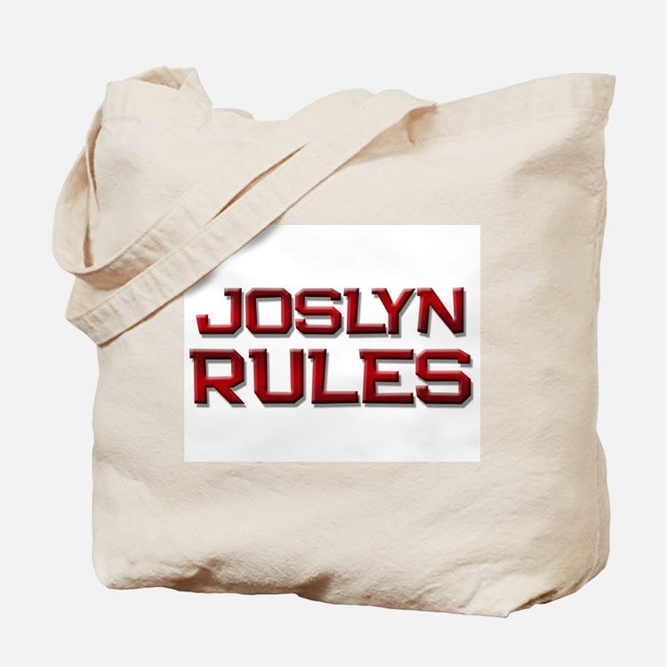 joslyn rules Tote Bag
