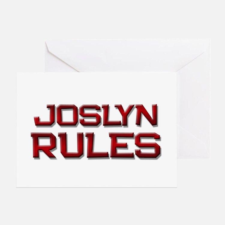 joslyn rules Greeting Card