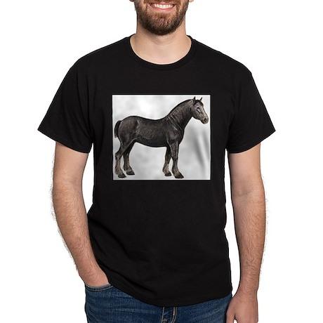 Percheron Horse Black T-Shirt