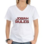 josiah rules Women's V-Neck T-Shirt